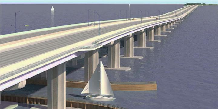 Design of new bridge to Pensacola