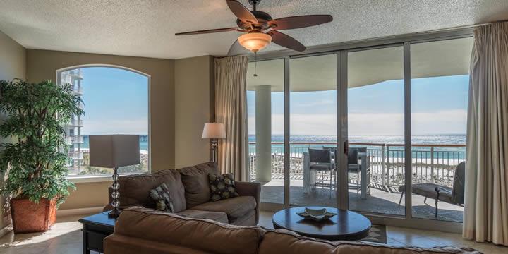 View from unit c3 Beach Colony Condos in Navarre Beach FL