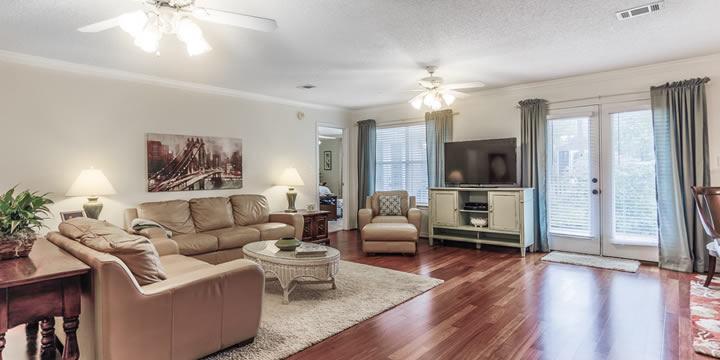 Living Room at Twin Bay Manor