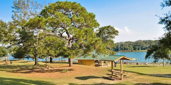 Bayview Park overlooking Bayou Texar