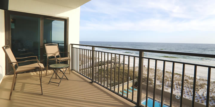 View of Okaloosa Island beach
