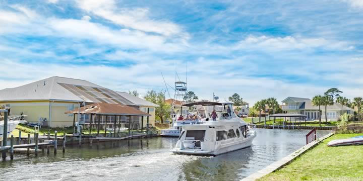 Homes on a deep-water canal with access to Santa Rosa Sound.
