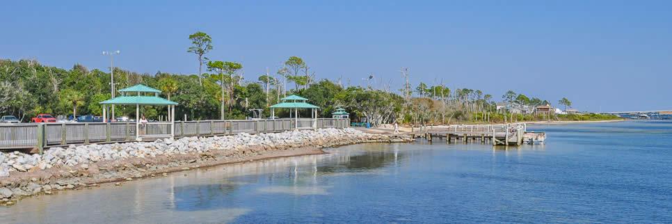 Waterfront recreation at Gulf Breeze Shoreline Park