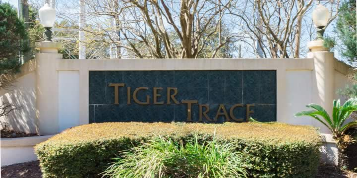 Entrance to Tiger Trace Subdivision
