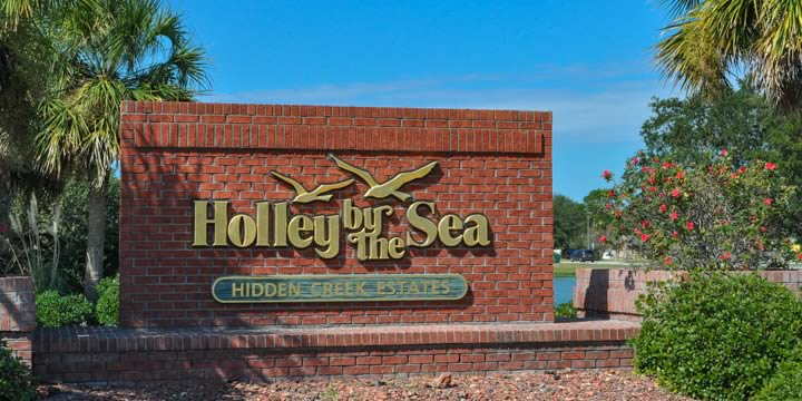 Entrance to Holley by the Sea in Navarre