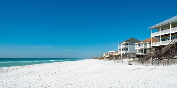 Beach homes on Hwy 30A
