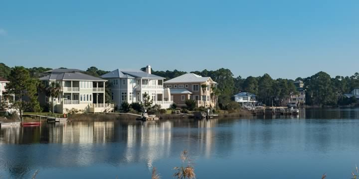 Large waterfront homes in Seagrove Beach FL