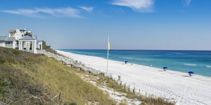 Beach front homes in Seaside Florida