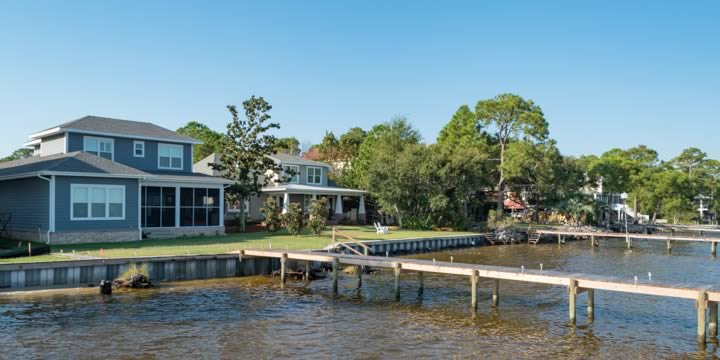 Waterfront homes in Innerarity Point