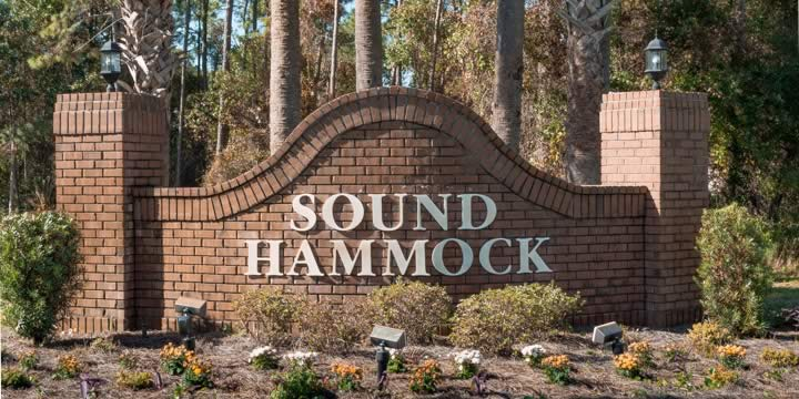 Entrance to the Sound Hammock subdivision