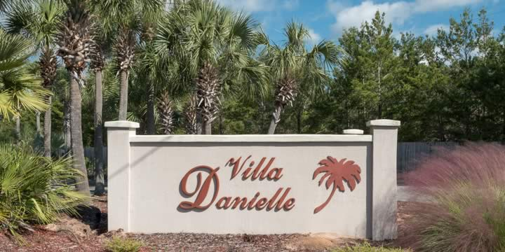 Entrance to Villa Danielle subdivision in Navarre