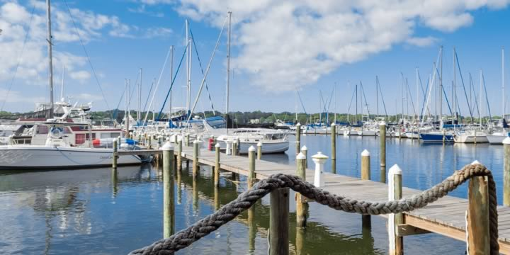 Boats on the Niceville waterfront.