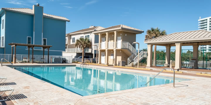 Port Side Villas pool and deck
