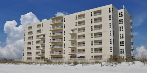 View of San Souci condos from Pensacola Beach