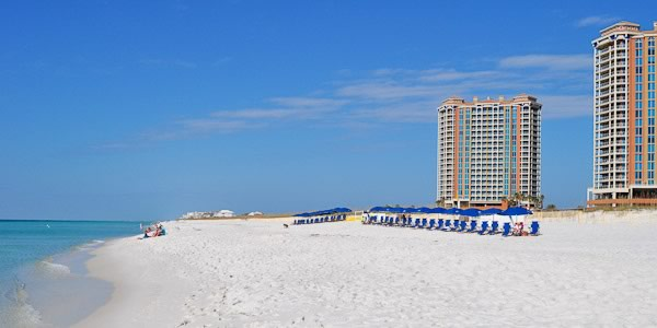 Beachfront condos located on Pensacola Beach