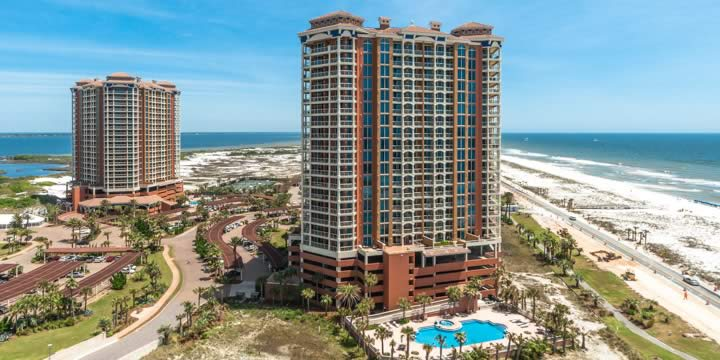 Waterfront condominiums on Pensacola Beach