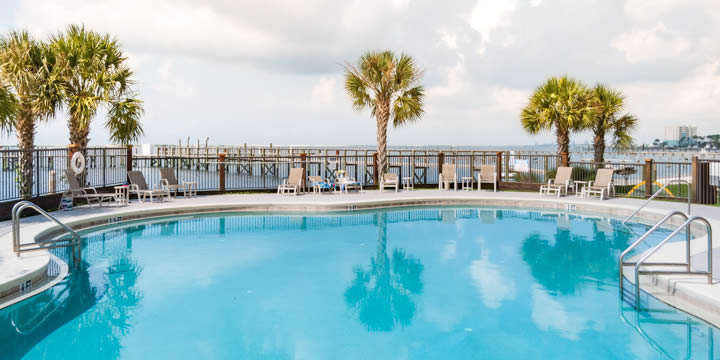 Pool at Snug Harbour on Pensacola Bay