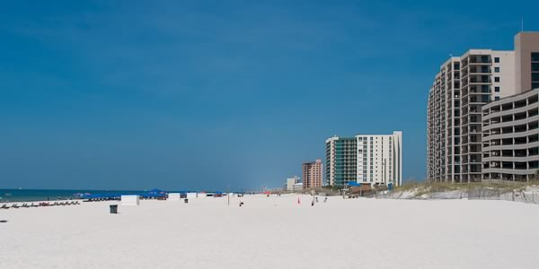 Condos on Perdido Key beach