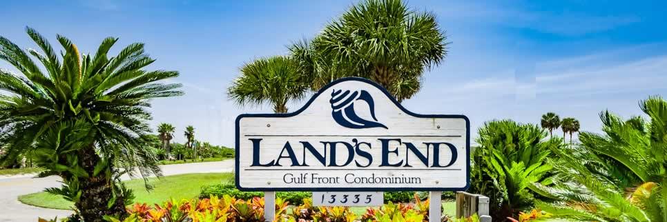 Entrance to Lands End Condominium in Perdido Key FL