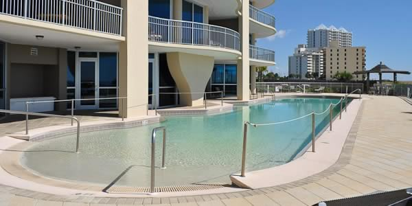 Pool at Mirabella Condominiums.