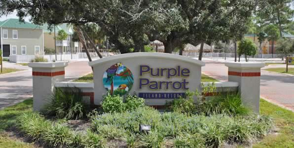 Entrance to Purple Parrot Condos