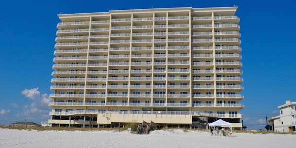 Windemere condominium seen from the beach in Perdido Key