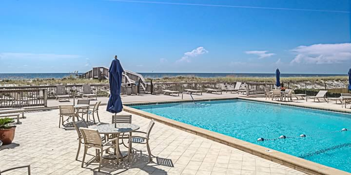 The pool at the Windward Condominiums
