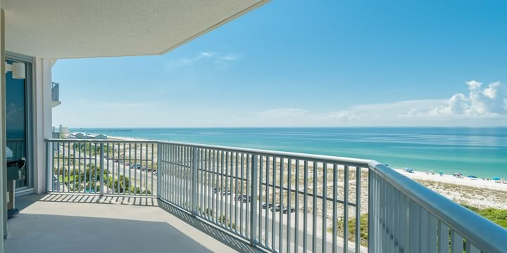 Balcony over looking Pensacola Beach