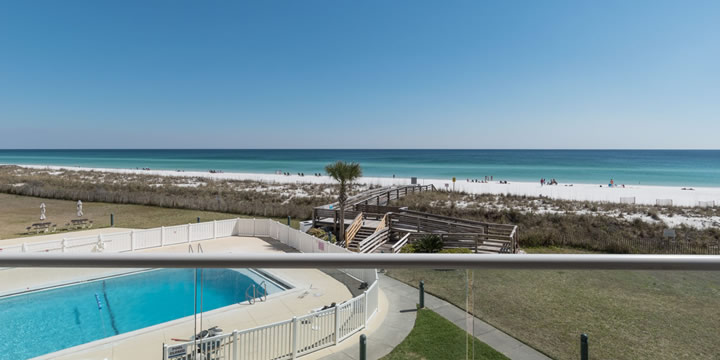 View of Pensacola Beach from balcony