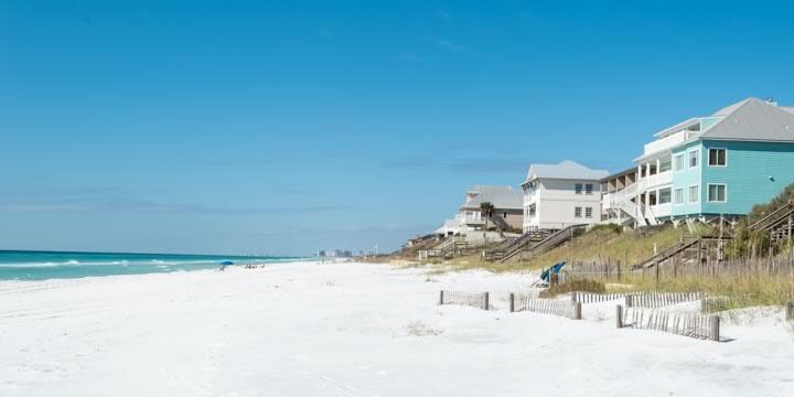Santa Rosa Beach and beachfront homes