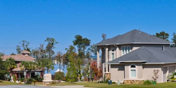 Scenic Hwy homes over looking Pensacola Bay