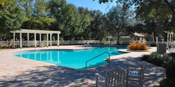 Herons Forest community pool and deck