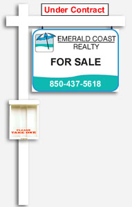 Real estate listing yard sign